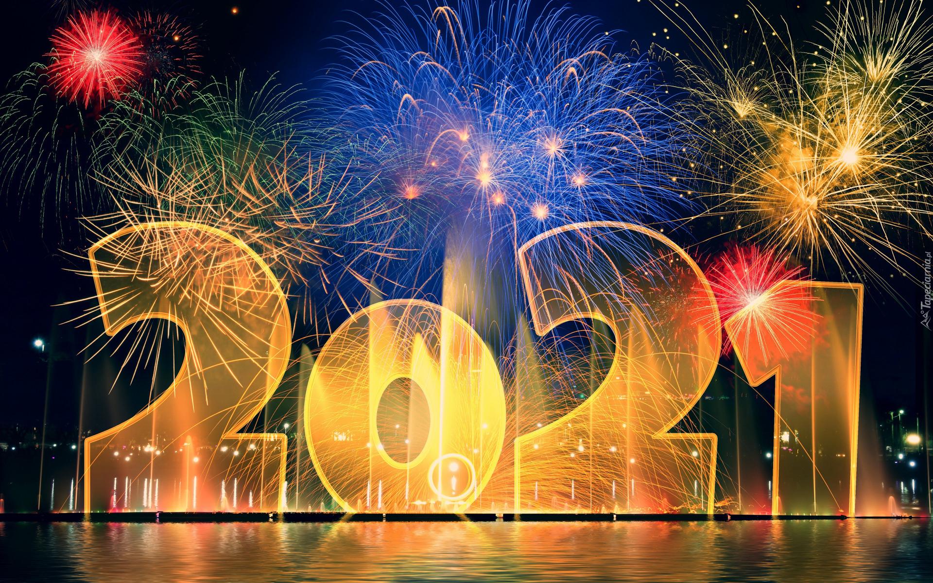 tapeta-noworoczne-fajerwerki-przy-napisie-2021